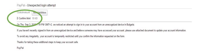 csatolás html pay pal csalás